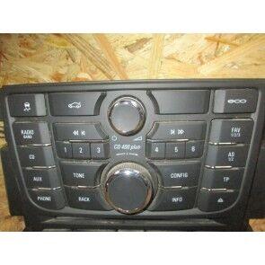 Control radiocasetofon stereo negru CD400 Plus Opel Astra J pentru codul RPO UYG 13444592