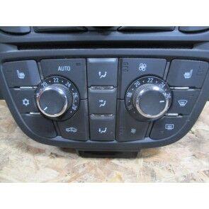 Modul reglare incalzitor si climatizare, negru( pentru scaune fata incalzite, fara incalzire volan)Opel Astra J 13435146,18 22 413